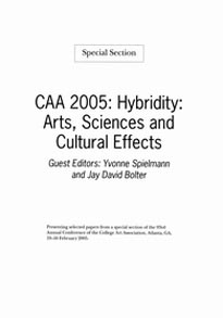 Hybridity: Arts, Sciences and Cultural Effects